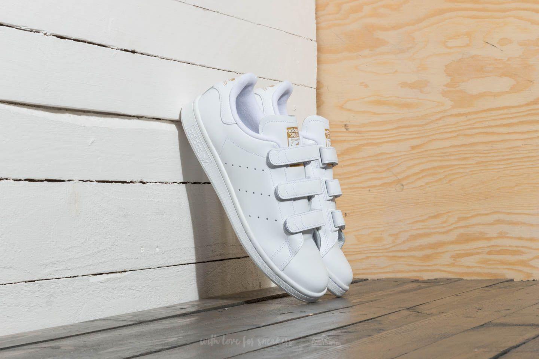 Tenisky Adidas Stan Smith na suchý zip v bílé barvě ...