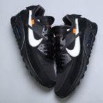 Kde koupit The Off-White x Nike Air Max 90 v černé colorway?