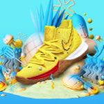 "Oslavte 20 let animáku SpongeBob s kolekcí SquarePants x Nike Kyrie 5 ""SpongeBob"""